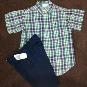 Polo shirt and Nautica shorts